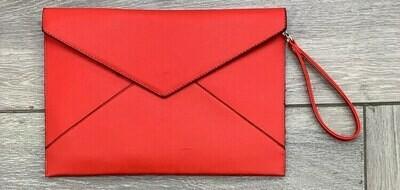 Clutch busta grande rosso