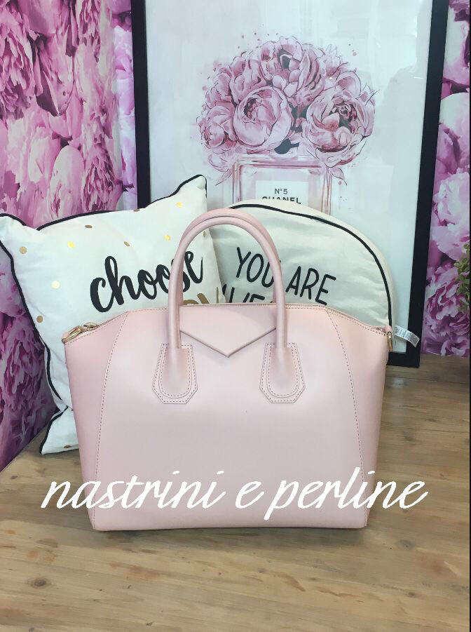 Borsa bauletto vera pelle mod. Glam rosa