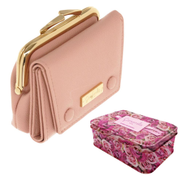Portafoglio rosa compatto Camomilla