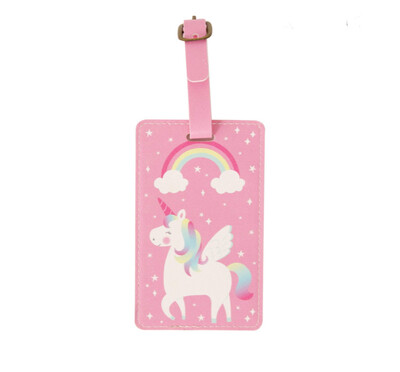 Etichetta valigia tag unicorno sasse