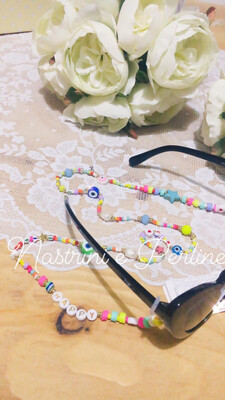 Catenella per occhiali e collana mod. Coachella multicolor