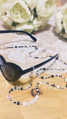 Catenella per occhiali e collana mod. Coachella nero