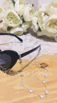 Catenella per occhiali  con madreperla