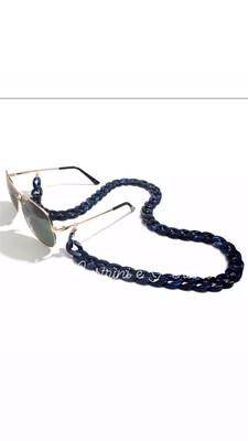 Catenella per occhiali e collana in acrilico blu