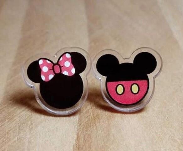 Coppia orecchini Minnie e Topolino