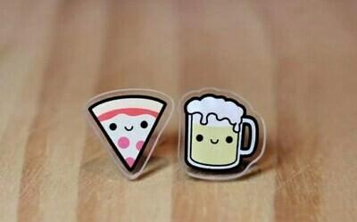 Coppia orecchini Pizza e Birra