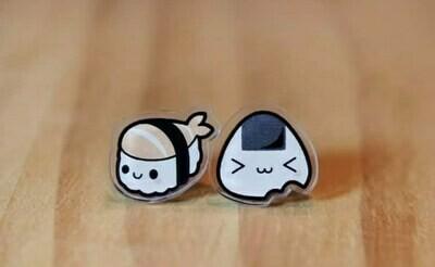Coppia orecchini Sushi - Onigiri