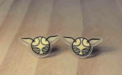 Coppia orecchini Boccino quiddich di Harry Potter