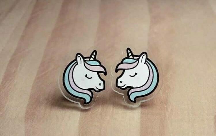 Coppia orecchini Unicorni
