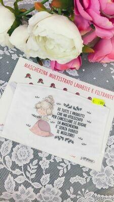 Mascherina riutilizzabile Le Pupette Maria Antonietta