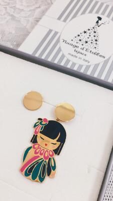 Orecchini Kokoro Nuage d'Etoiles Hasumi