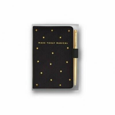 Confezione quadernino nero e penna Make Today Magical Katie Loxton 098