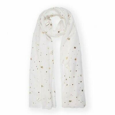 Sciarpina bianca con stelline metalliche Katie Loxton 327