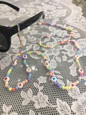 Catenella per occhiali e collana mod. candycane multicolor