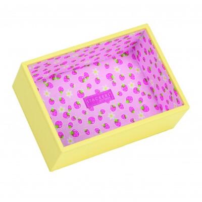 Vassoio deep open  giallo rivestimento fragole art 73328