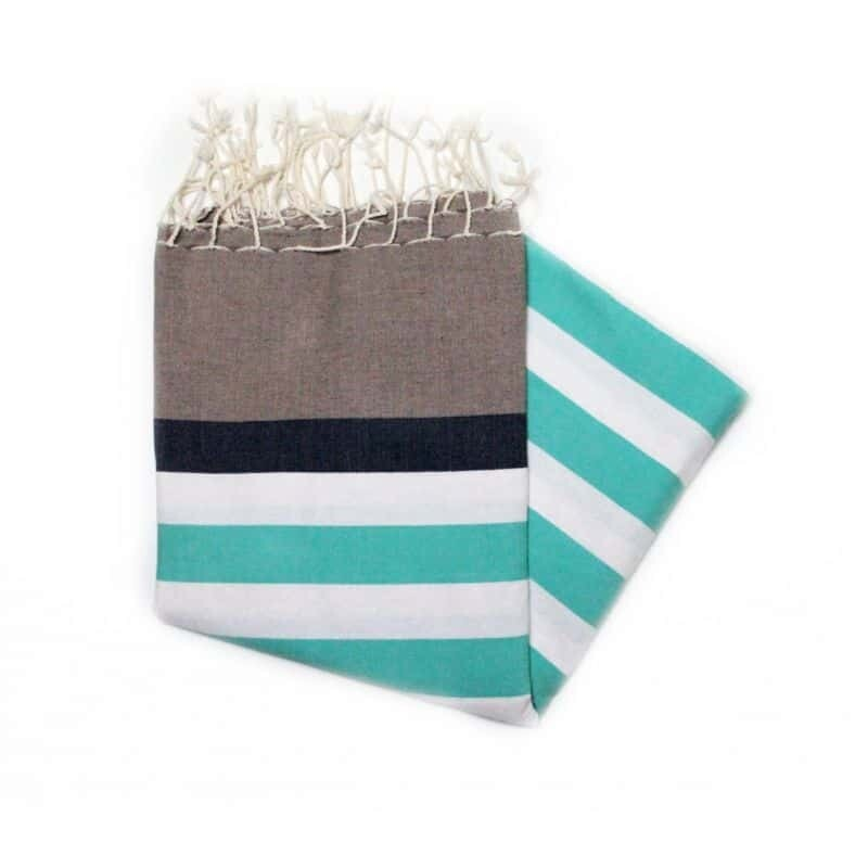 Telo fouta righe acquamarina Sailor