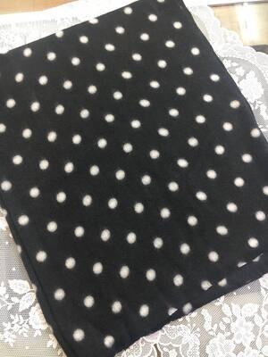 Sciarpa pois lovely nero pois bianco