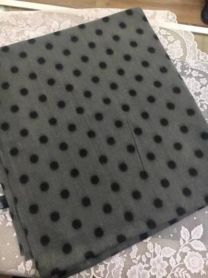Sciarpa pois lovely grigio pois nero