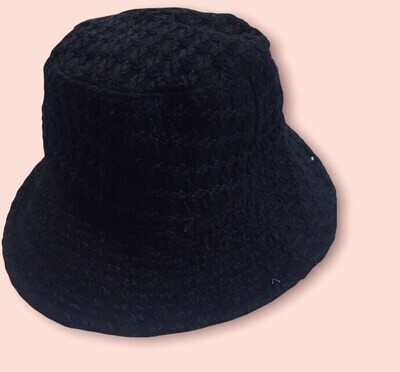 Cappello Bucket doubleface mod. Cherie  nero