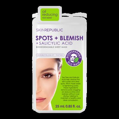skinrepublic Spots + Blemish Gesichts-Tuchmaske 25ml