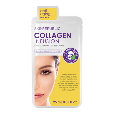 skinrepublic Collagen Infusion Gesichts-Tuchmaske 25ml