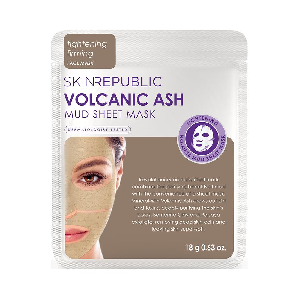skinrepublic Volcanic Ash Mud Sheet - Schlamm-Tuchmaske mit Vulkanasche