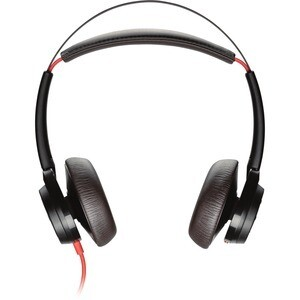 Plantronics Blackwire 7225 Wired Over-the-head Stereo Headset - Black - Supra-aural - 32 Ohm - 20 Hz to 20 kHz - Noise Cancelling, Omni-directional Microphone - Noise Canceling - USB Type C