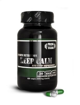 Keep Calm and Stop Depression 60 капсул - экстракт валерьяны, 5хтп, магний - мощный антидепрессант купить