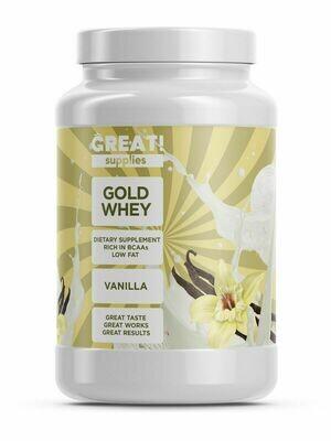 Сывороточный протеин GOLD WHEY вкус ваниль от GREAT SUPPLIES, 30 порций купить