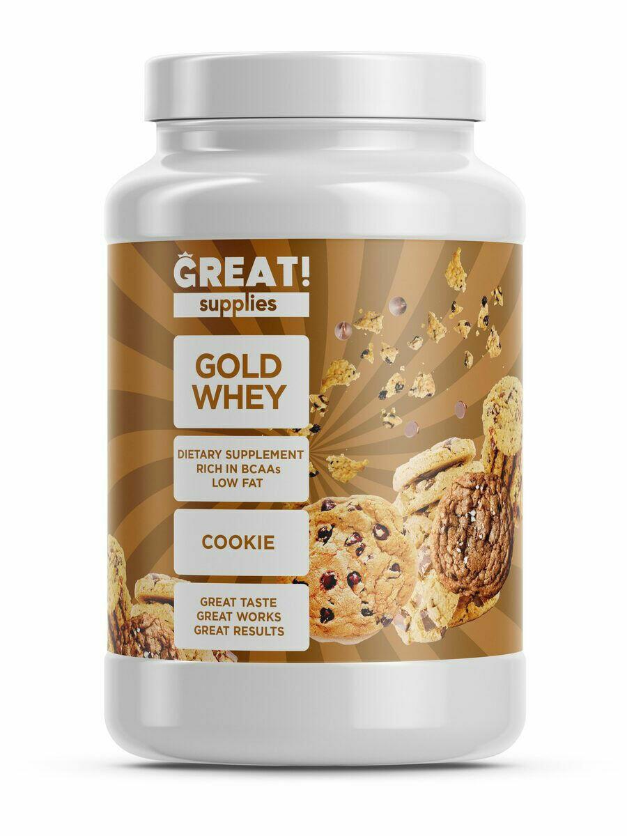 Сывороточный протеин GOLD WHEY вкус печенье от GREAT SUPPLIES, 30 порций купить
