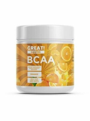 BCAA 200гр вкус Апельсин от GREAT SUPPLIES, 40 порций купить аминокислоты