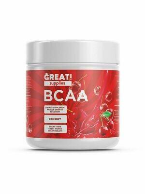 BCAA 200гр вкус Вишня от GREAT SUPPLIES, 40 порций купить аминокислоты