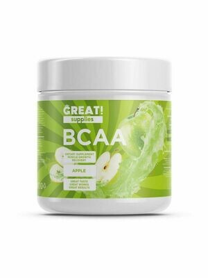 BCAA 200гр вкус Яблоко от GREAT SUPPLIES, 40 порций купить аминокислоты