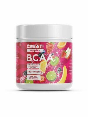 BCAA 200гр вкус Фруктовый пунш от GREAT SUPPLIES, 40 порций купить аминокислоты