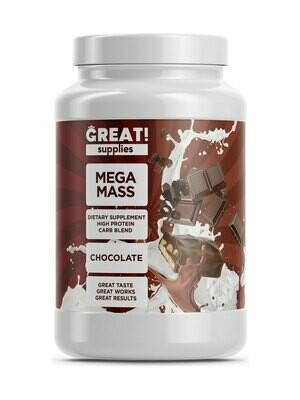 Гейнер Mega Mass вкус Шоколад  от Great Supplies 2000гр, 20 порций купить банку