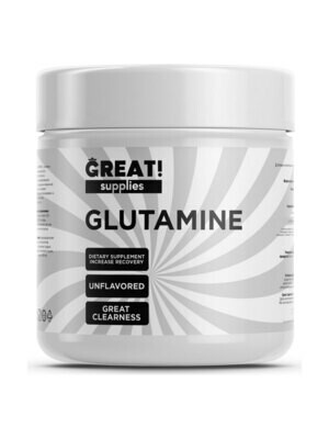 Глутамин от Great Supplies Glutamine 300гр, 60 порций купить банку глютамина