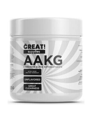 Аргинин Great Supplies AAKG 200гр, 60 порций, купить банку аргинина