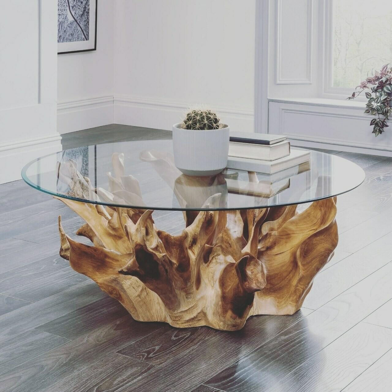 Root tree coffee table