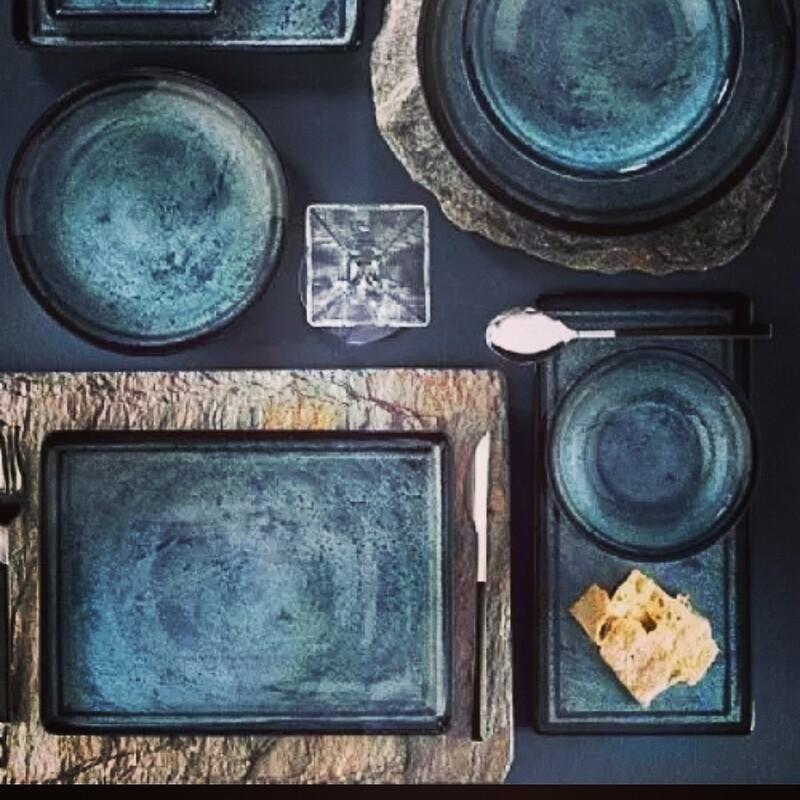 Kon'iro (deep blue) dish set