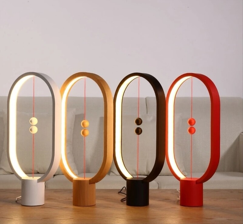 Elliptical table lamp