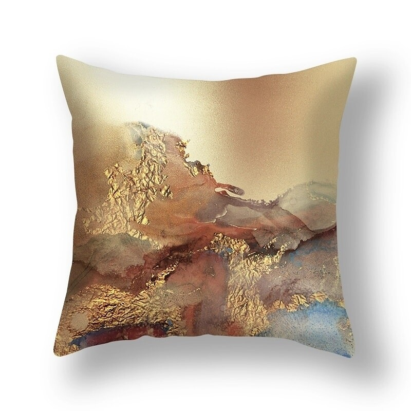 Mother earth decorative pillow with feathers insert