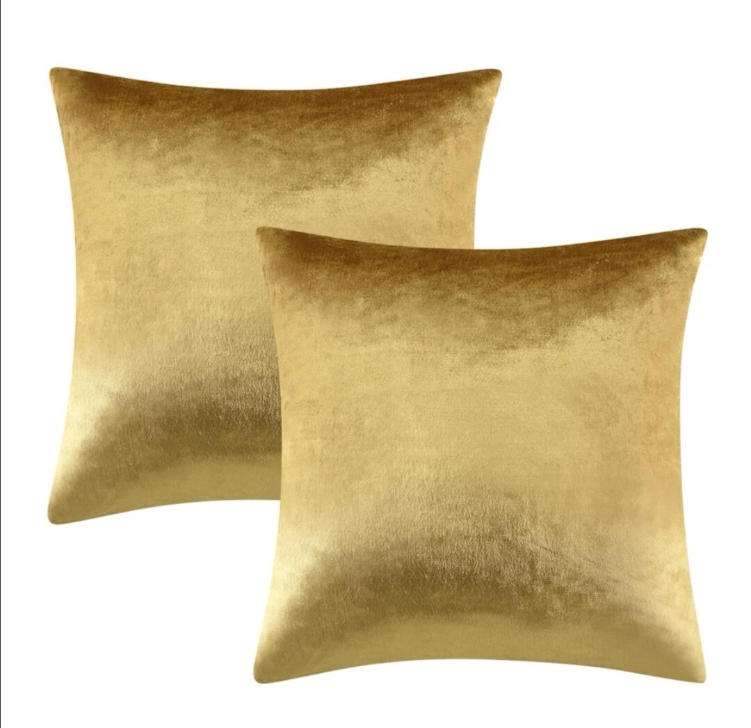 Smooth velour decorative pillow with feathers insert included.