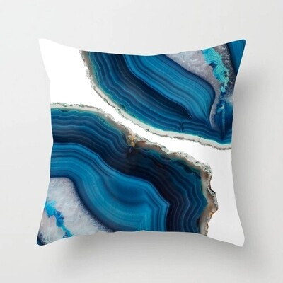Swirls pillow collection with feathers insert
