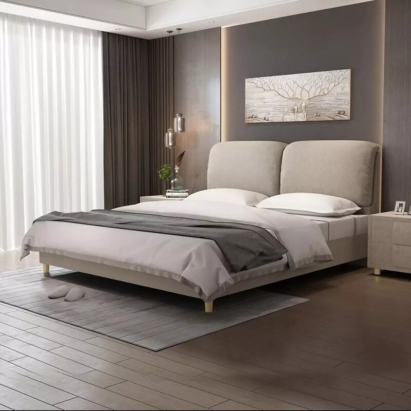bed platform Queen/ king size mid-century influence.