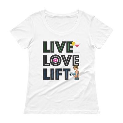 Live Love Lift Ladies' Scoopneck T-Shirt