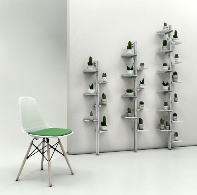 Mr Green libreria a muro porta piante