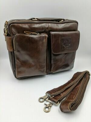 Мужская кожаная сумка zznick 6107