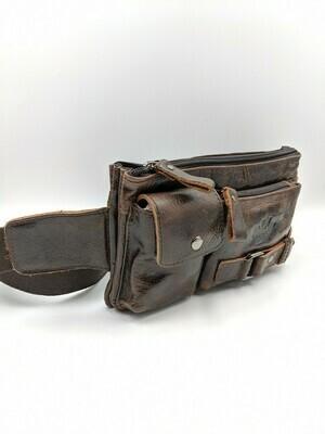 Мужская кожаная сумка zznick 7712