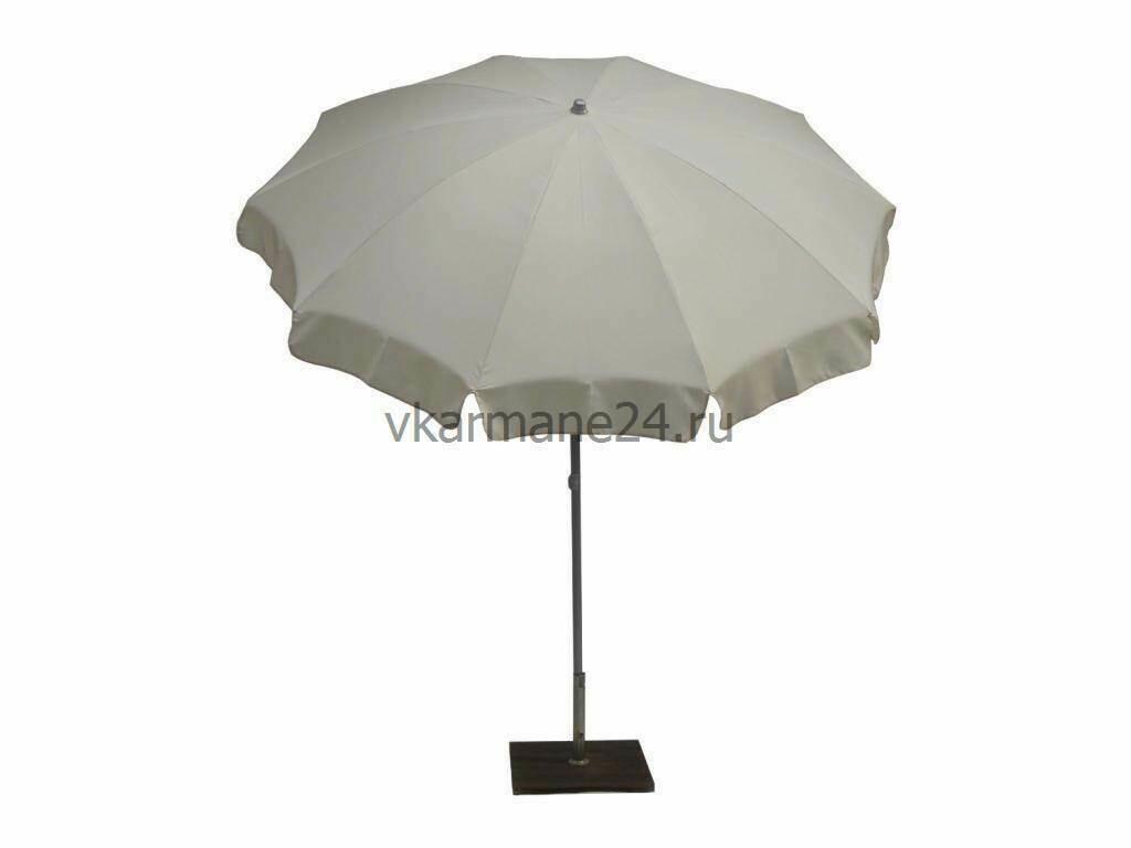 Садовый зонт с поворотной рамой Novara Natural (диам.2,4м)