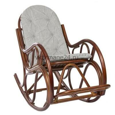 Кресло-качалка Classic коньяк  с подушкой